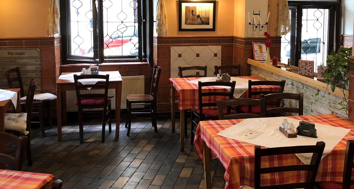 Restaurant with traditional czech cuisine in Prague